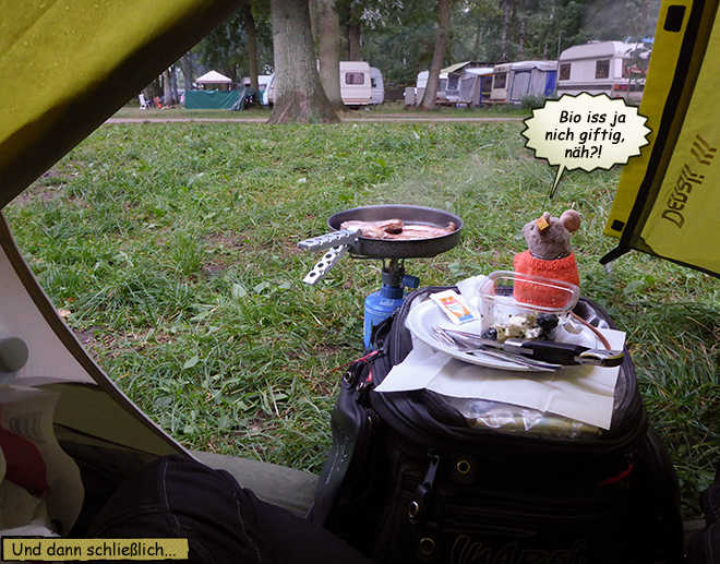 Im Zelt braten
