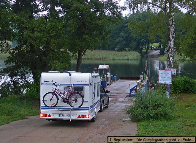 Wohnwagen Fähre Campinginsel Schulzewerder
