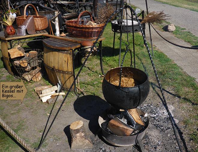 Topf Feuer Sauerkraut
