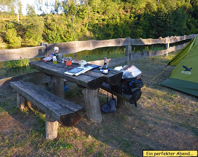 Camping Zelt Motorrad Masuren