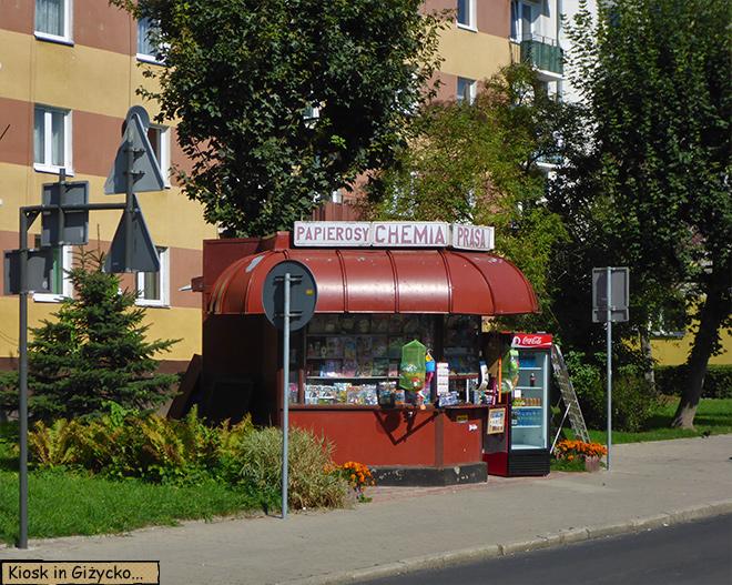 Kiosk in Lötzen Polen