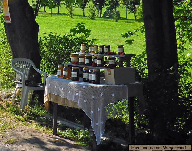 Straßenverkauf Marmelade in Polen
