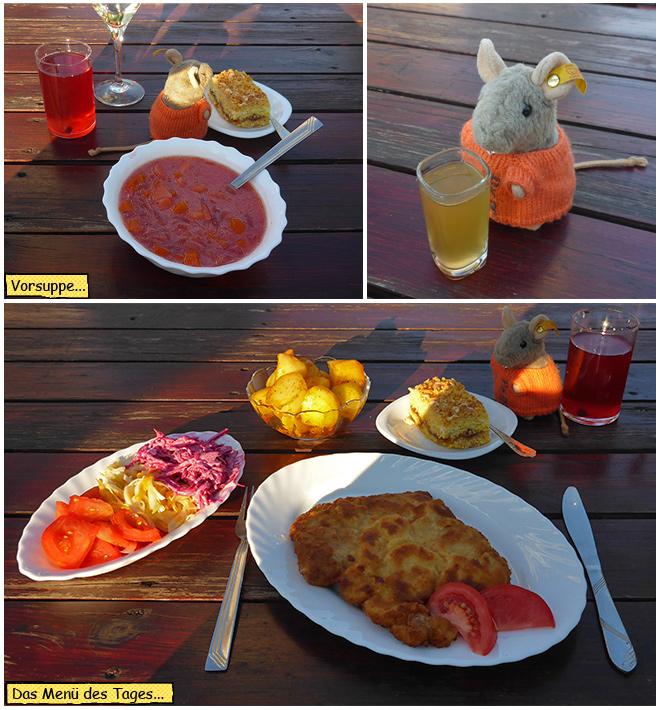 Abendessen in Polen beim Kloster Wigry