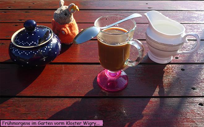 Kaffee Garten Frühstück