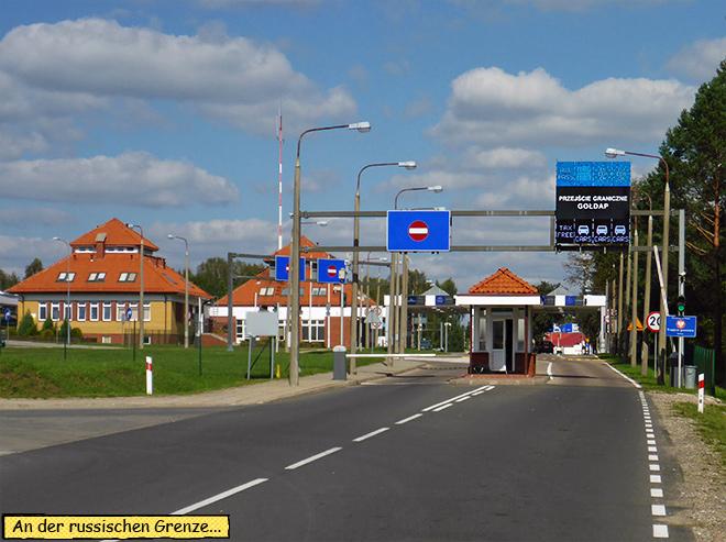 Grenze Kaliningrad Russland Goldap Polen