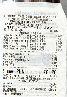 Einkauf Bidronka Polen