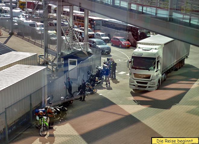 Schwedenkai Kiel Motorrad