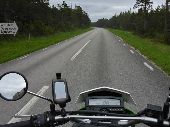 Schweden Landstraße Gotland