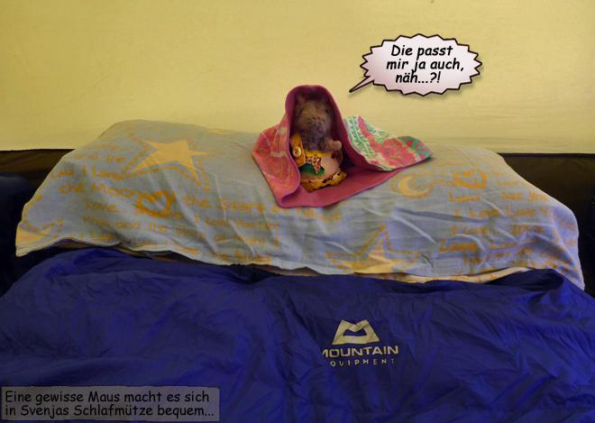 Zelt Schlafsack Kissen
