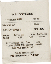 Tagesgericht Fähre Gotland