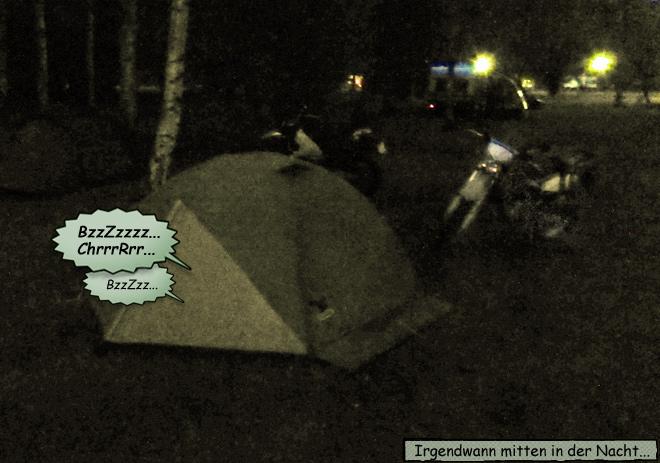 Nacht Zeltplatz