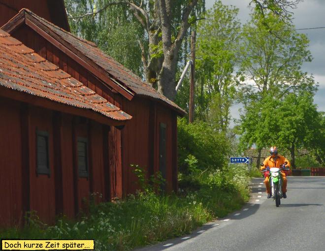 Motorradfahren Sonne Regen