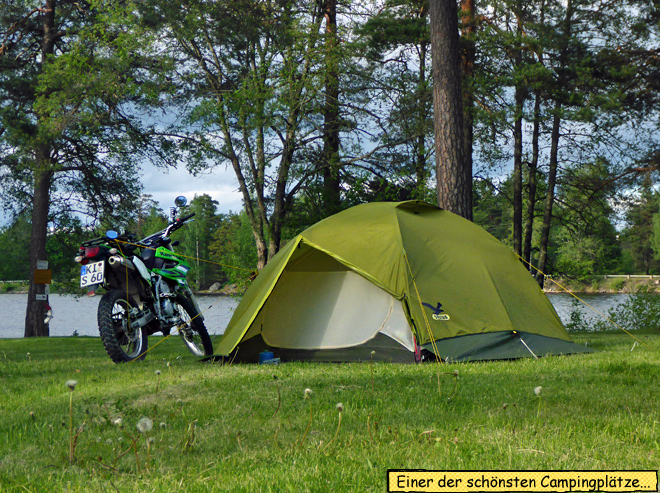 Motorrad Zelt Sala
