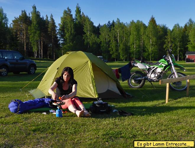 Våmhus Camping Zelt kochen