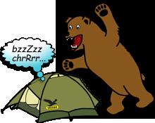 Zelt Bär Gefahr Camping