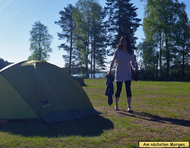 Campingplatz Nachthemd