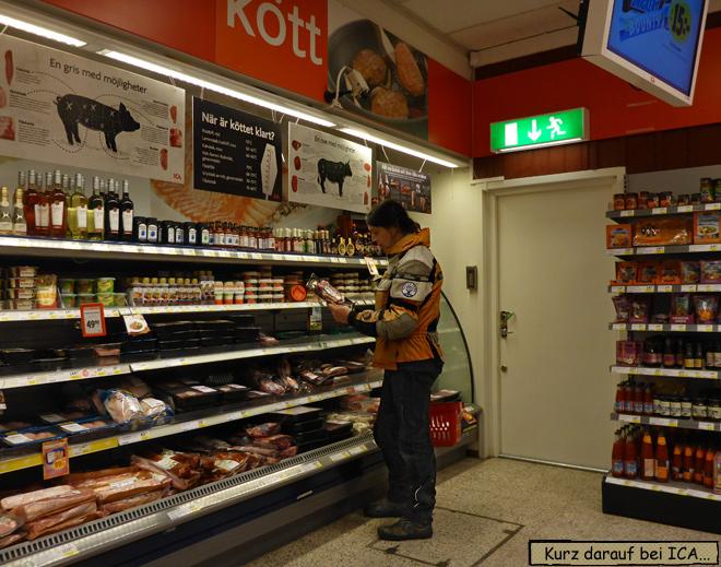 ICA Supermarkt Fleischabteilung