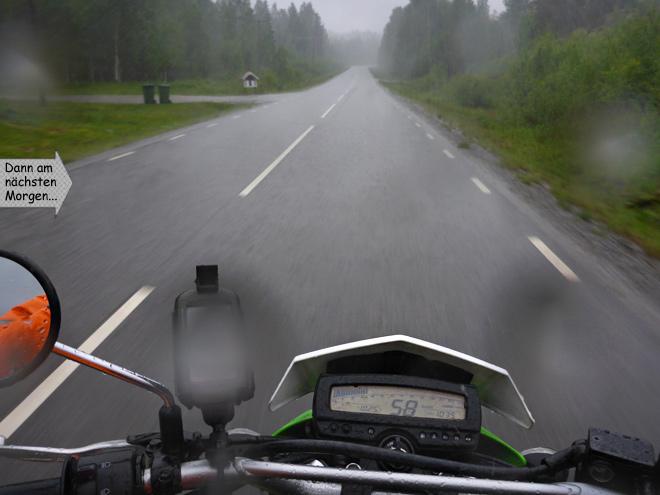 Motorradfahren im Regen