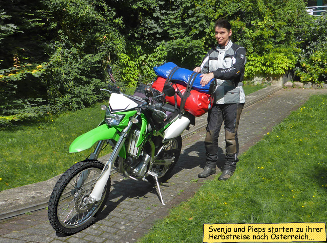 Svenja KLX250 Enduro Gepäck