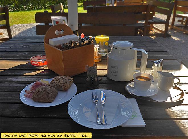 Frühstück Terrasse