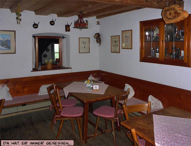 Gasthof Vorderbrand Gaststube