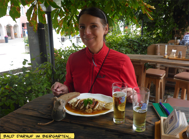 Biergarten Nürnberger mit Kraut und Bier