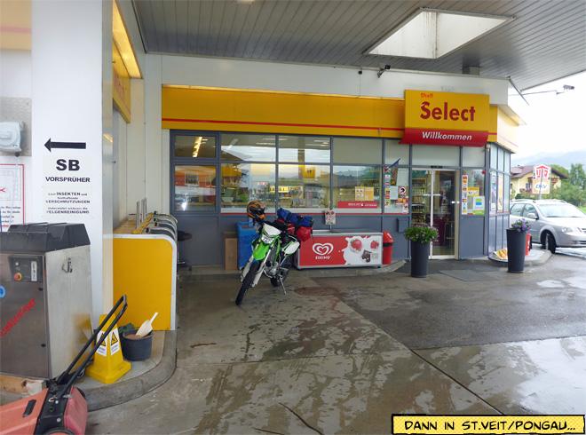 Shell Tankstelle Motorrad