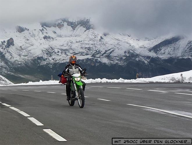 Motorrad Großglockner Hochalpenstraße Schnee