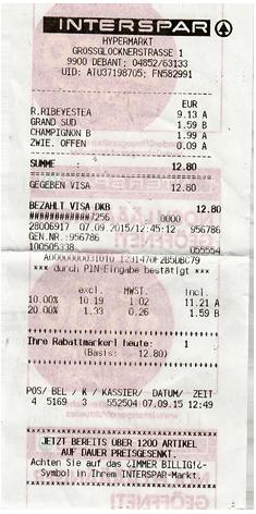 Interspar Einkauf Lienz