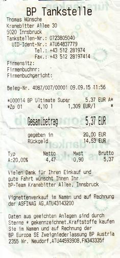 Innsbruck tankstelle
