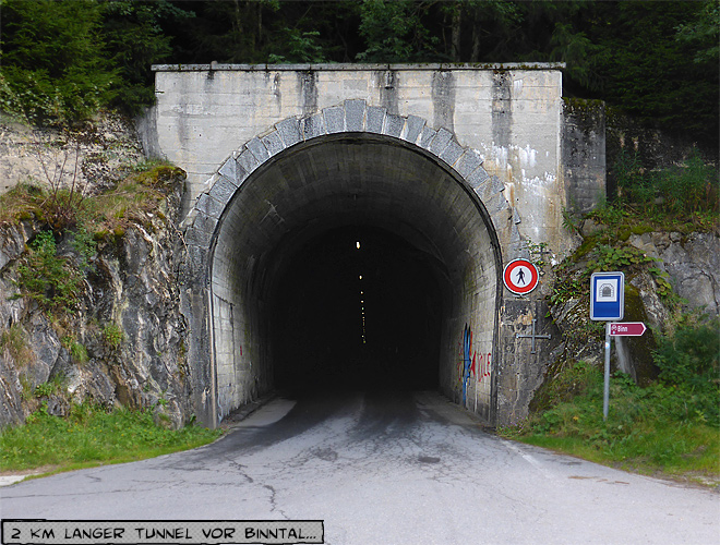 Tunnel bei Binntal