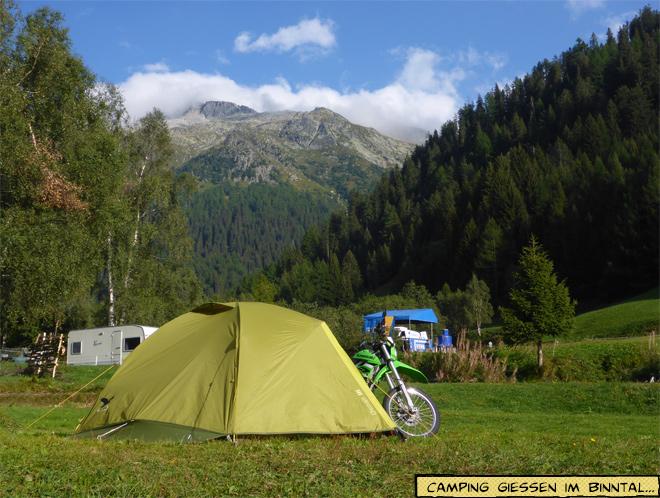 Campingplatz Giessen im Binntal
