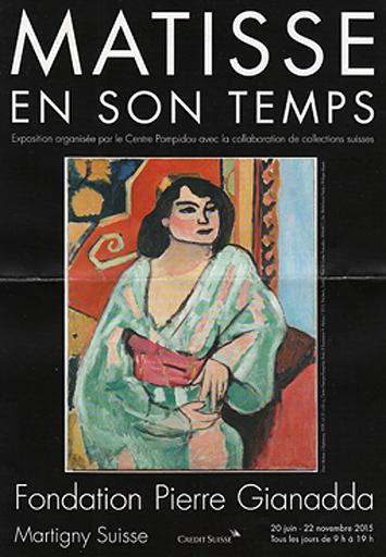 Matisse Ausstellung Martigny