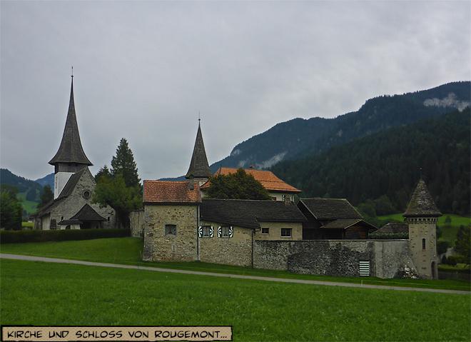 Kirche und Schloss von Rougemont