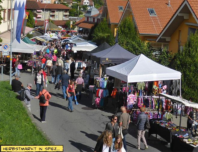 Herbstmarkt in Spiez, Schweiz