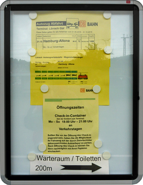 Autozug Lörrach Fahrplan