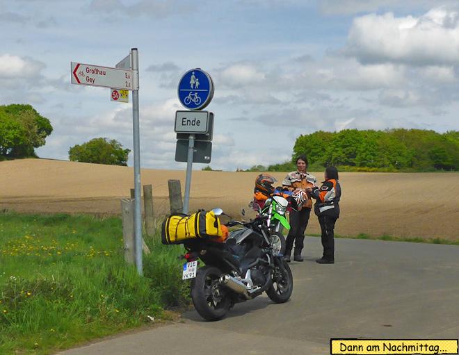 Motorrad Pause machen