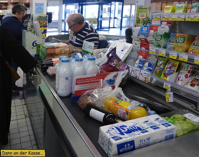 Supermarkt Kasse