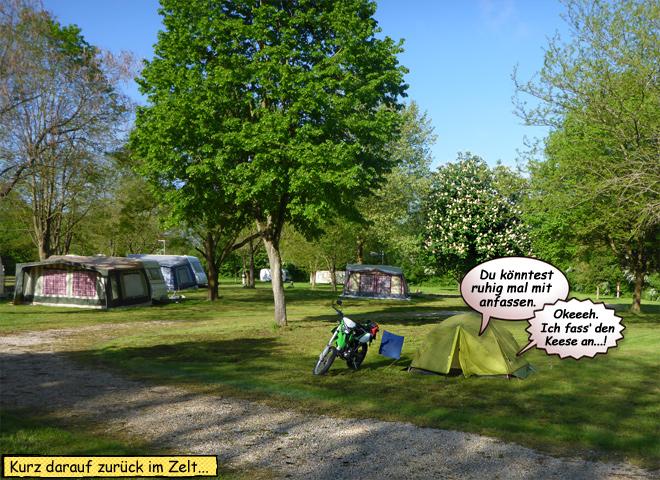 Zelt Motorrad Campingplatz