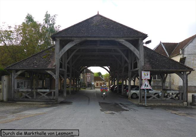 Markthalle Lesmont Frankreich