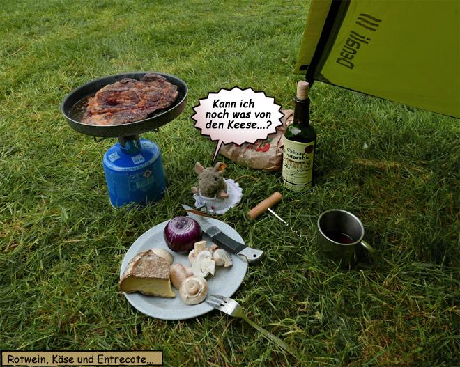 Entrecote vom Campingkocher