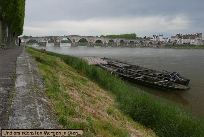 Brücke Gien Frankreich Loire