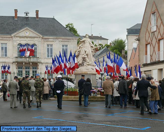 Gien Frankreich Tag des Sieges