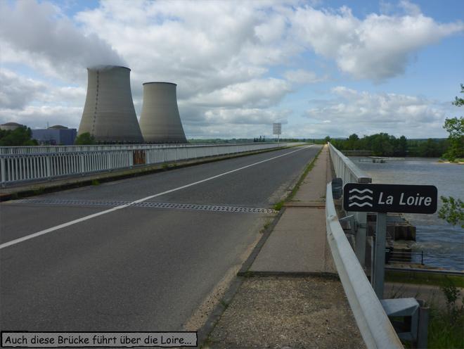 Atomkraftwerk an der Loire Frankreich