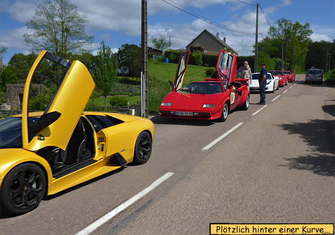Ferrari Porsche Club Ausfahrt