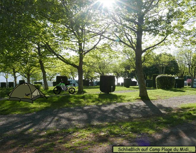 Motorrad Zelt Campingplatz