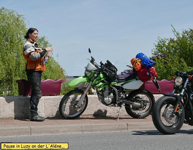 Pause Motorrad