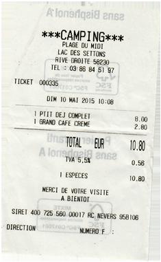 Benzinpreis Frankreich Quittung