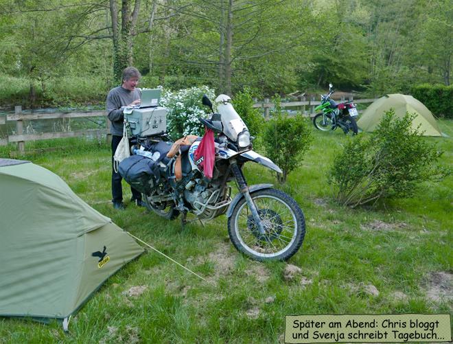 unterwegs bloggen Motorradreise