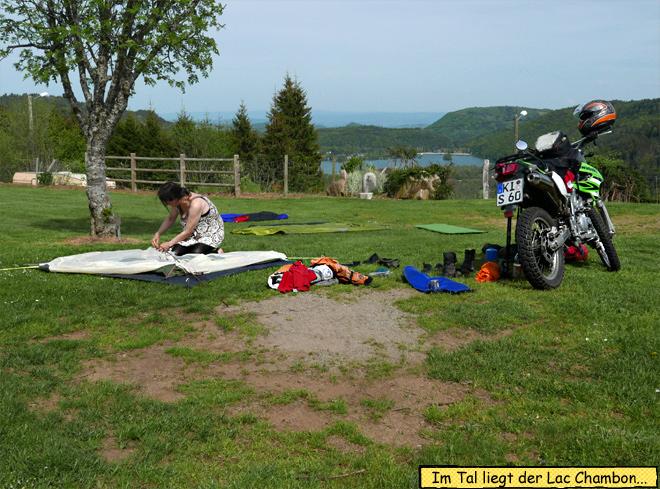 Zelt aufbauen Camping Serrette